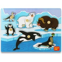 Smart Kids Service Wooden Puzzles For Toddlers Toddler Puzzles Set Arctic Animals Wooden Peg