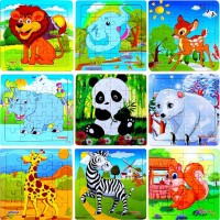 Vigeiya Wooden Jigsaw Floor Puzzles Ages 48 Animal Stem Learning Educational