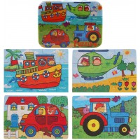 Donado 4 In 1 Jigsaw Puzzles Set Educational Toddler Wooden Puzzles With Iron Box For Toddlers 3