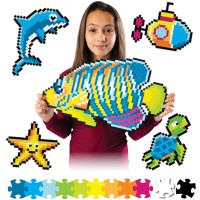 Fat Brain Toys Jixelz 1500 Pc Set Under The Sea Arts Crafts For Ages 6 To