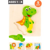 Toypal Animal Toddler Wooden Puzzles For 2 Toy For 1 2 Boy Gifts 5