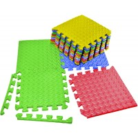 Vvivid Multicolor Interlocking Eva Foam Floor Mat 12 Tile