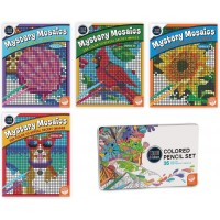 Mystery Mosaics Books 1114 With 36 Colored Pencils