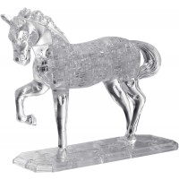 Bepuzzled Deluxe 3D Crystal Jigsaw Puzzle Horse Animal Assembly Brain Teaser Fun Model Toy Gift