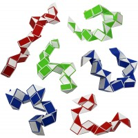Twist Puzzle Snake Fidget Toy For Stress Relief And Anxiety Pack Of 6 Puzzle Fidget Brain