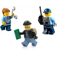 Lego City Police Minifigure Combo Pack Police Run Away Bandit Male Cop Female Cop