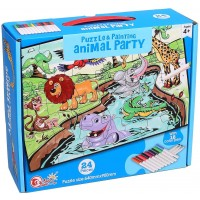 Ingooood Jigsaw Puzzles Come With 12 Coloring Markers Great Girl Gift Fun Creative Toys Art Set