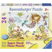 Ravensburger Junior Mermaid 24 Piece Jigsaw Puzzle Every Piece Is Unique Pieces Fit Together