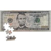 Mini Copy Play Money 5000 Dollar Bill Jigsaw Puzzle Great