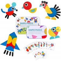 Gifts For 3 5 6 8 Boys Girls Byserten Pattern Blocks Shapes Puzzles Toys Wooden Puzzles For