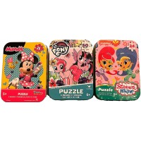 Bundle Set Of 3 Girls Mini Jigsaw Puzzles My Little Pony Disney Minnie Mouse Nickelodeon Shimmer