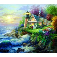 On Guard 550 Piece Jigsaw Puzzle By Sunsout Lighthouse