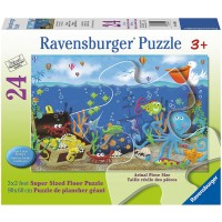 Ravensburger Underwater Treasure Floor Puzzle 24 Piece Jigsaw Puzzle Every Piece Is Unique Pieces
