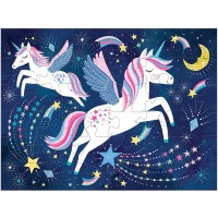 Mudpuppy Unicorn Magic To Go Puzzle 36 Pieces Ages 3 Travelfriendly Bag Made With Safe Nontoxic