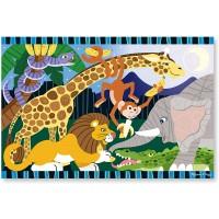 Melissa Doug Safari Social Jumbo Jigsaw Floor Puzzle 24 Pcs 2 X 3
