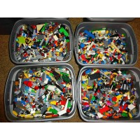 1000 Lego Pieces Blocks Brick Parts Random Lot Cleaned And Sanitized Bulk