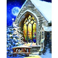 Christmas Manger Large Piece 1000 Piece Jigsaw Puzzle By