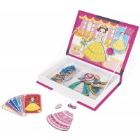 Janod Magnetibook 56 Pc Magnetic Princess Costumes Dress Up Game For Imagination Play Book Shaped