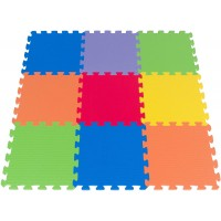 Foam Puzzle Play Mat 3X3 Feet Floor Playmat 9 Soft Tiles 6 Bright Colors Made In Taiwan From Foam