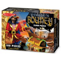 Melissa Doug Pirates Bounty Jumbo Jigsaw Floor Puzzle 100 Pcs 2 X 3