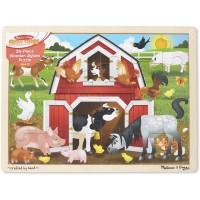 Melissa Doug Barnyard Wooden Jigsaw Puzzle 24