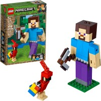 Lego Minecraft Steve Bigfig With Parrot 21148 Building Kit 159