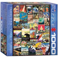 Eurographics Travel Usa Vintage Ads Small Box Puzzle 1000