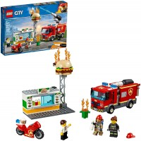 Lego City Burger Bar Fire Rescue 60214 Building Kit 327