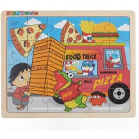 Ryans World Food Truck 24 Piece Wooden Jigsaw