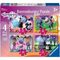 Ravensburger Disney Vampirina 4 In A Box 12 16 20 24Pc Jigsaw