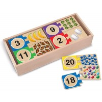 Melissa Doug Selfcorrecting Number Puzzles Developmental Toys Wooden Storage Box Matching Counting
