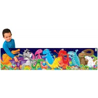 The Learning Journey Long Tall Puzzle Color Dancing Dinosaurs 51Piece 5Footlong Preschool Puzzle