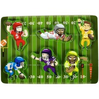 Fun Unique Football Sport Chunky Wooden Puzzle For Toddlers Preschool Age Kids Weasyhold Colorful