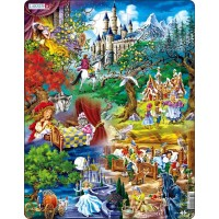 Larsen Grimms Fairy Tales Childrens Educational Jigsaw Puzzle 33 Piece Tray Frame Style Puzzle