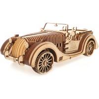 Ugears Mechanical Models 3D Wooden Puzzle Mechanical Roadster