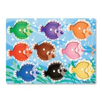 Colorful Fish Peg Wooden Puzzle