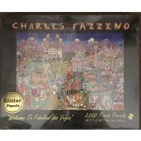 Charles Fazzino Welcome To Fabulous Las Vegas 2000 Piece Glitter