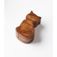 Handmade Wooden Mama Cat Puzzle Boxjewelry Boxstash Boxbrain Teaser With Secret