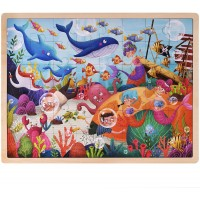 Ollie And Mr Noodle Deep Sea Diving Jigsaw Puzzle Childrens 48 Pc 1575 X 12 Wooden Inset Travel