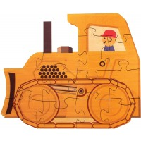Bulldozer Shaped Puzzle Made In
