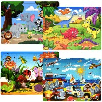 Wooden Puzzles Ages 2 3 4 5 s Toddler Puzzles 40 Pieces Wooden Jigsaw Preschool Educational