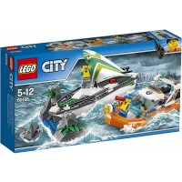 Lego City 60168 Sailboat Rescue Building Toy With Boats That Really Float Includes Coast Guard