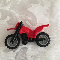 Lego Red Motorcycle Dirtbike Vehicle For Minifigures