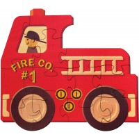 Fire Truck Shaped Puzzle Made In