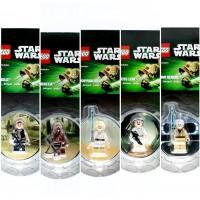 Minifigures Set Of 5 Luke Skywalker Han Solo Chewbacca Princess Leia Obiwan Kenobi 2013 Star Wars