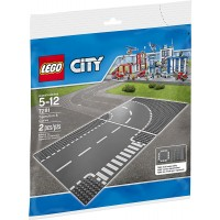 Lego City Town Tjunction And Curve Plate 7281 Building
