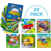 Toy To Enjoy Wooden Chunky Vehicle Jigsaw Puzzle Pack Of 20 Age 2 6 Peg For Toddlers