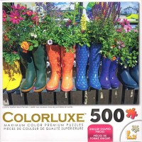 Colorluxe 500 Piece Puzzle Colorful Garden Boot