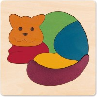 Hape George Luck Rainbow Cat Wood Puzzle 7