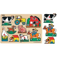 Small World Toys Ryans Room Wooden Puzzle Classic